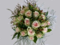 Hand tied rose bridal bouquet