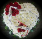 Heart shaped personalized wreath - funeral flowers in Cape Town, South Africa