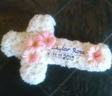 Cross wreath with message banner Cape Town florist