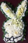Playboy bunny funeral floral wreath - funeral flowers in Cape Town