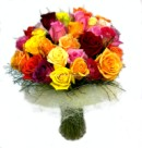 Send a selection of quality mixed colour roses - click to enlarge