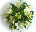 Send a bunch of beautiful St Joseph lilies - click to enlarge