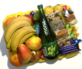 Halaal hamper with fresh and dried fruit, chocs, grape juice for delivery in Cape Town and South Africa