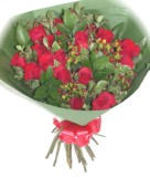 Deliver lovely long stemmed roses wrapped in cello - Click to enlarge